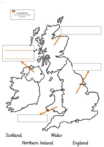 label a uk map by mandem2014 teaching resources tes. Black Bedroom Furniture Sets. Home Design Ideas