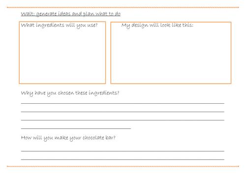 Design a Chocolate Bar Year 1 and 2