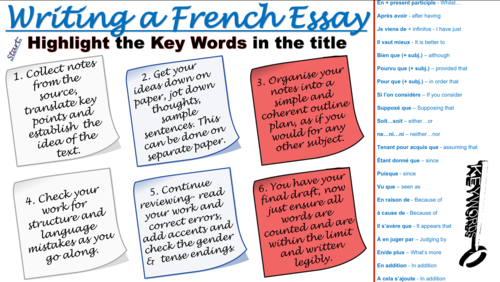 French Essay Writing Assistance (GCSE/AS/A2)