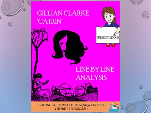 'Catrin' - Gillian Clarke - Line by Line analysis