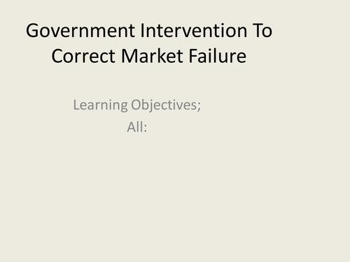 AS Economics Government Intervention