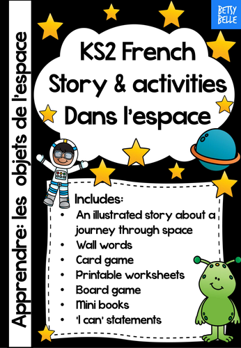 ks2 french story a space journey by betsybelleteach teaching resources tes. Black Bedroom Furniture Sets. Home Design Ideas