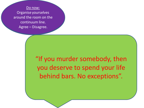 Human Rights Lesson - do murderers deserve life in prison?