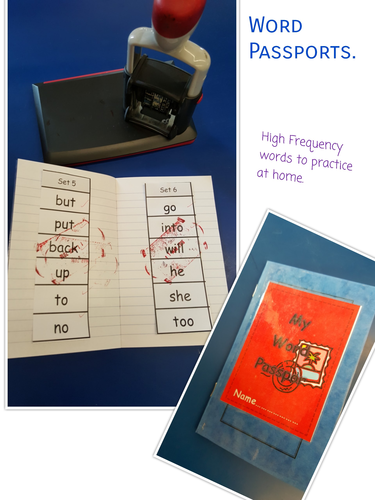 High Frequency Word Passport - Full printable set