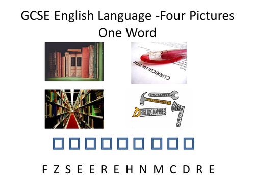 GCSE English Four Picture One Word Starter