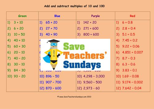 Addition Addition Worksheets Adding To 10 Free Math Worksheets – Multiples of 10 Worksheets