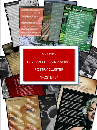 AQA-Anthology-2017-Love-and-Relationships-Poetry-Posters