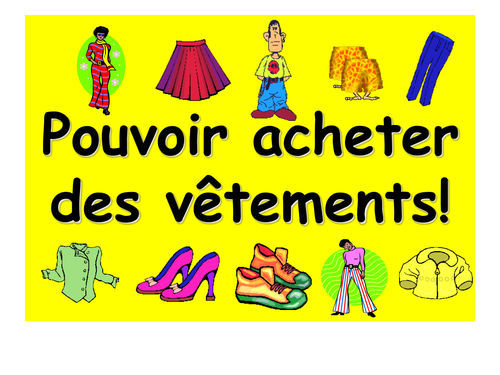 French Teaching Resources: PowerPoint: Shopping for Clothes