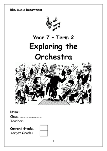 Exploring the Orchestra Workbook by samanthawood