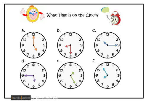Telling the Time Quick Assessment Sheet