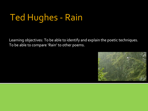 rain horse ted hughes essay Essay writing guide the rain horse by ted hughes these columns are the effect given by shafts of light hitting the rain and giving it a 'broken shaft.