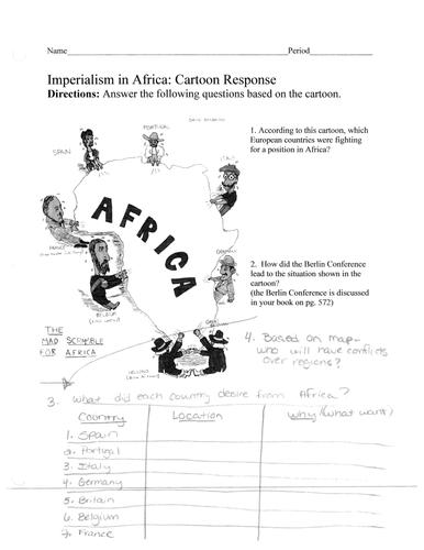 Imperialism Scramble For Africa Political Cartoon