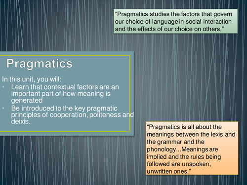 politeness and pragmatics in the context