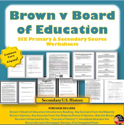 Civil Rights Movement – Brown v Board of Education Primary and ...