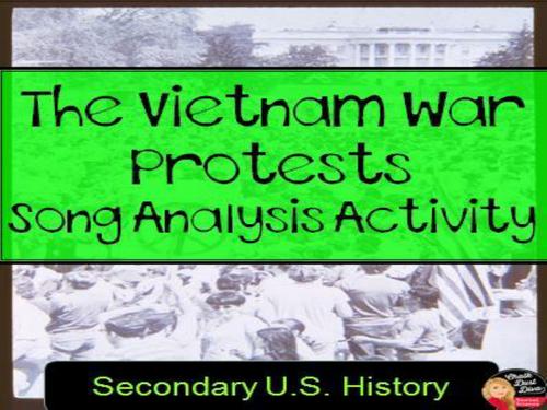 Vietnam War Protest Song Analysis Activity