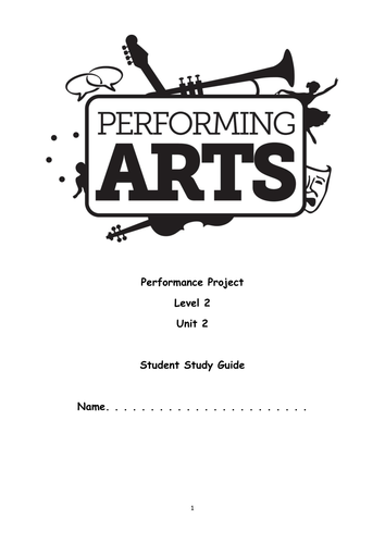 OCR Level 2 Performing Arts Unit 2 Student Book