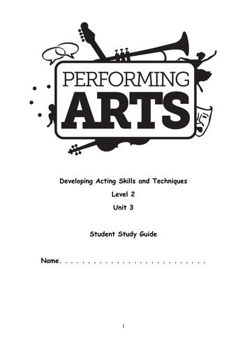OCR Level 2 Performing Arts Unit 3 Student Book