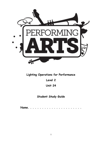 OCR Level 2 Performing Arts Unit 24 Student Book by
