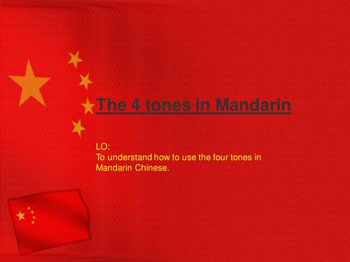 Tones in Mandarin (for Primary or KS3)