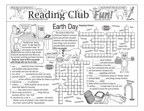 Keeping It Green Earth Day Two Page Activity Set