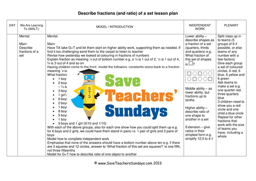 Fractions of a Set KS2 Worksheets, Lesson Plans, PowerPoint, and Plenary