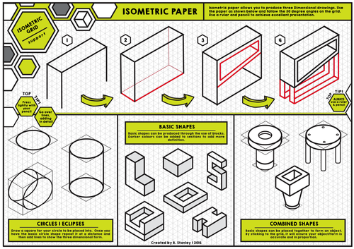 Isometric Paper - A3 - Support Sheet
