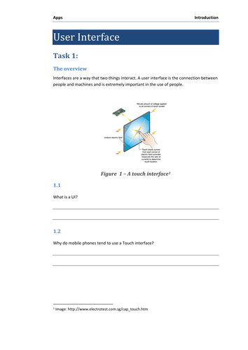 User Interfaces for Computing (KS3 or KS4)