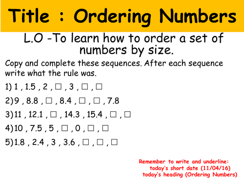 Ordering Numbers Worksheets : partitioning and ordering numbers ...