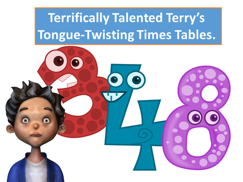 Times Tables Twisters! (3x,4x and 8x Times Tables Tongue Twisters)