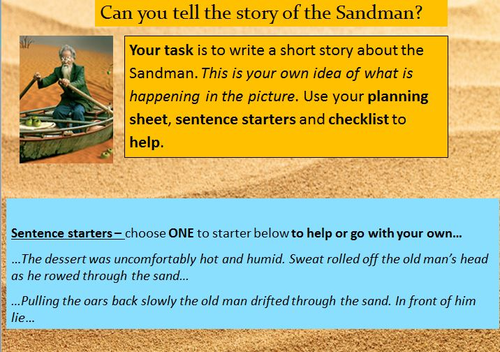 Sandman - Creative Writing Lesson