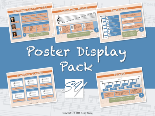 The Original Music Classroom Poster Display Pack