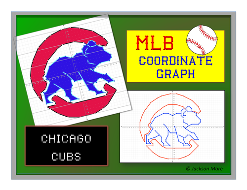 Chicago Cubs Mlb Coordinate Graph By Jmare Teaching Resources Tes