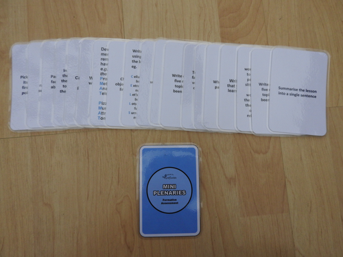 Mini Plenary Cards (Blue Coloured Back)