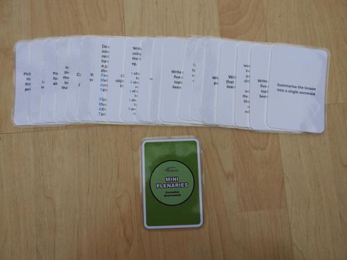 Mini Plenary Cards (Green Backed Design)