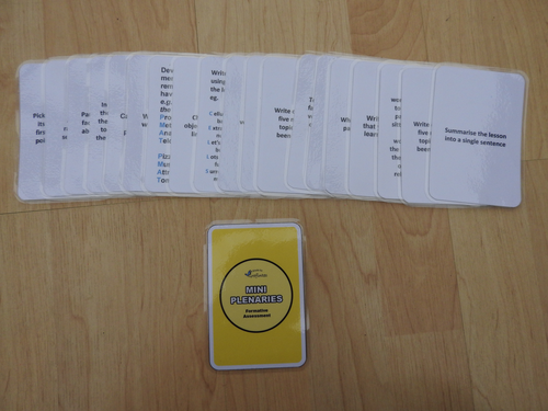 Mini Plenary Cards (Yellow Backed Design)