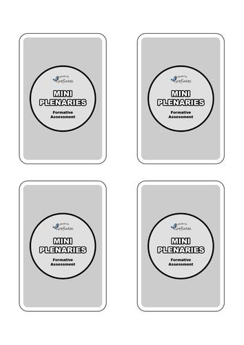 Mini Plenary Cards (Grey Backed Cards)