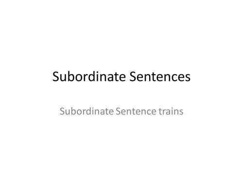 Subordination Trains Ks1