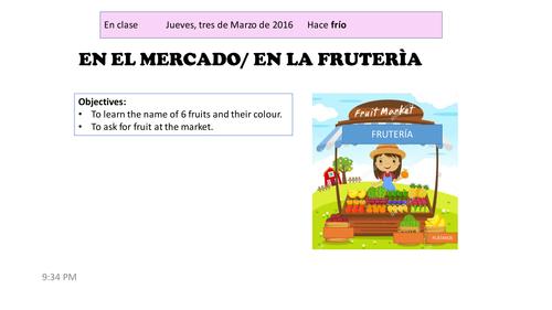 Fruits and colours. Frutas y colores