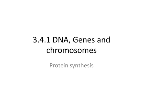 AQA A level  genes and chromosomes (protein synthesis)