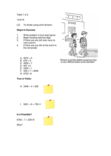 Year 5 Division Drill Worksheet by SomeTeacher | Teaching ...