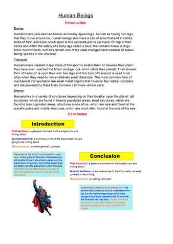 LastingLiteracyLessons - To Write An Effective Introduction And Conclusion - Explanation Texts