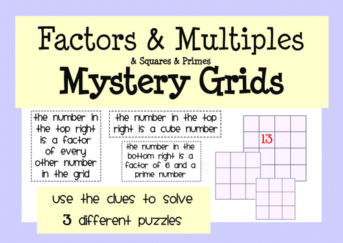 Factors Multiples and Primes Activity and Worksheet Pack by – Factors Multiples Worksheet