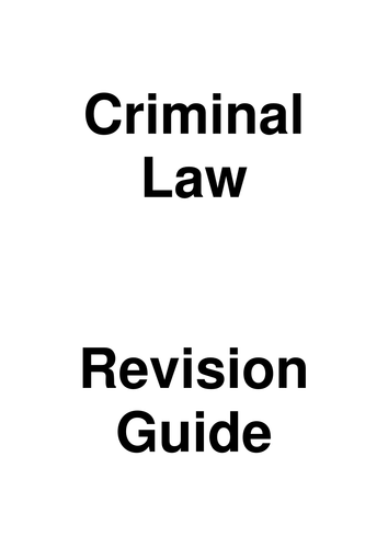 UNIT 2 CRIMINAL LAW A LEVEL AQA **GUIDE WITH MODEL ANSWERS**