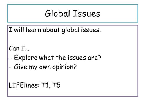 PSHE - Global Issues