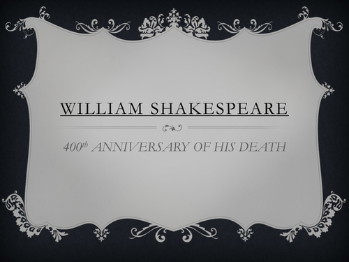 Shakespeare assembly 400th anniversary