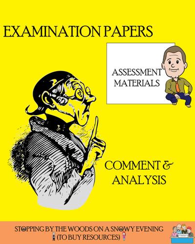 Mock Examination  - Cambridge Pre-U - Component 3 - Comment & Analysis #1