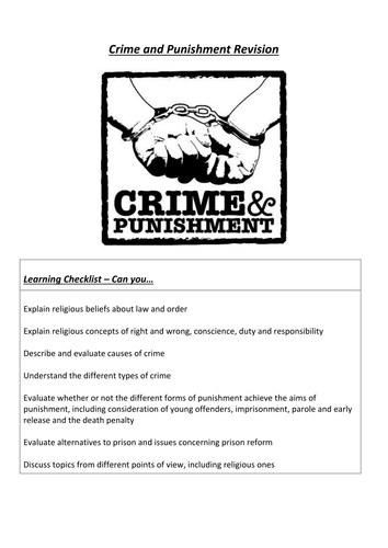 Crime and Punishment Revision pages - AQA