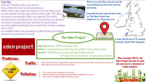 The Eden Project - AS/GCSE Level Geography