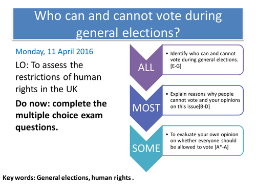 Who cannot vote in the UK