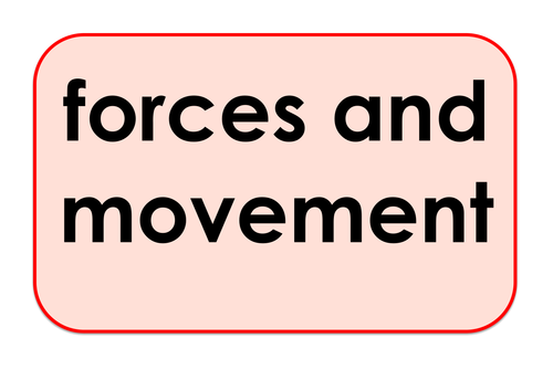 Forces and Movement - Games and Activities Supporting Scientific Vocabulary